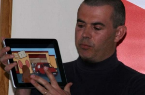 Neal demos one of his picturebook apps